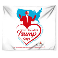 Trump Loves You And America Wall Tapestry