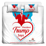 Trump Loves You And America 3 Pcs Beddings