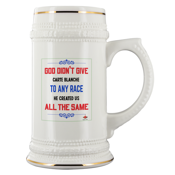 God Didn't Carte Blanche Beer Stein