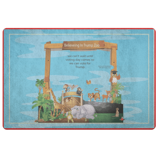 Believing In Trump Zoo Doormat - BelieveInMeBelieveInYou