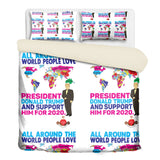 The World Loves Trump 3 Pcs Beddings