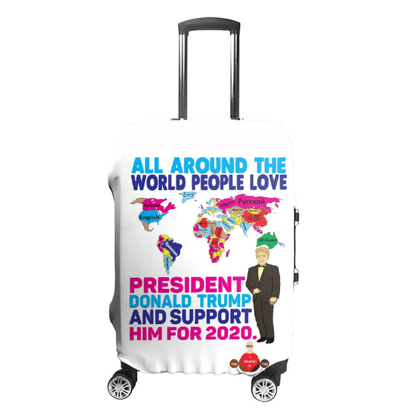 The World Loves Trump Luggage Cover