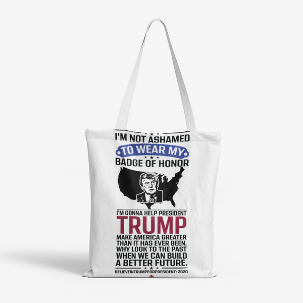 Trumps Badge of Courage Heavy Duty and Strong Natural Canvas Tote Bags