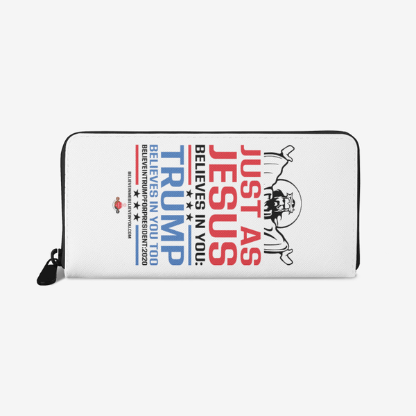 Jesus and Trump Unisex premium PU Leather Wallet - BelieveInMeBelieveInYou