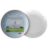 Trump-Pence Morning Glory Dinner Plates - BelieveInMeBelieveInYou