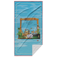 Believing In Trump Zoo Rectangular Beach Towel - BelieveInMeBelieveInYou