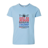 Jesus And Trump Youth Fine Jersey T-Shirt
