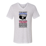 Trump Badge Of Honor Unisex V-Neck Jersey Tee