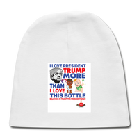 Trump Instead Of The Baby Bottle Baby Cap - white