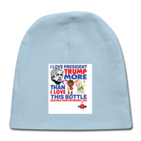 Trump Instead Of The Baby Bottle Baby Cap - light blue