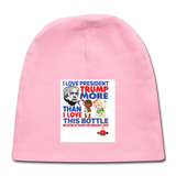 Trump Instead Of The Baby Bottle Baby Cap - light pink