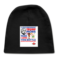 Trump Instead Of The Baby Bottle Baby Cap - black