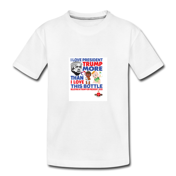 Trump Instead Of The Baby Bottle Toddler Premium Organic T-Shirt - white