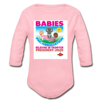 Ytump Baby Pac Association  Organic Long Sleeve Baby Bodysuit - light pink