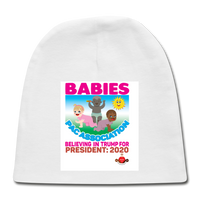 Trump Baby Pac Association Baby Cap - white