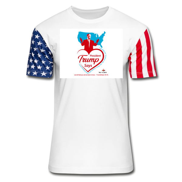 Trump Loves You And America Stars & Stripes T-Shirt - white
