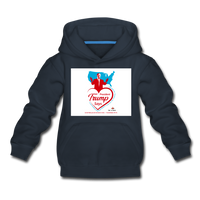 Trump Loves Ameica And You Kids' Premium Hoodie - navy