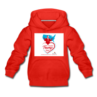 Trump Loves Ameica And You Kids' Premium Hoodie - red