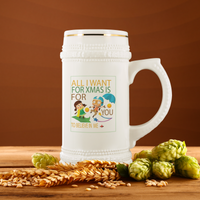 All I Want For Xmas Beer Stein - BelieveInMeBelieveInYou