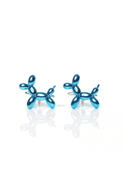 BLUE BALLOON DOG CUFF LINKS
