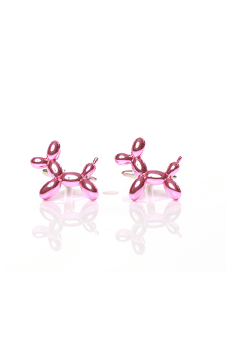 PINK BALLOON DOG CUFF LINKS