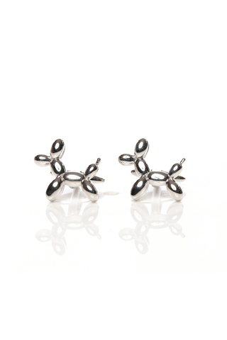 SILVER BALLOON DOG CUFF LINKS