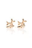 GOLD BALLOON DOG CUFF LINKS
