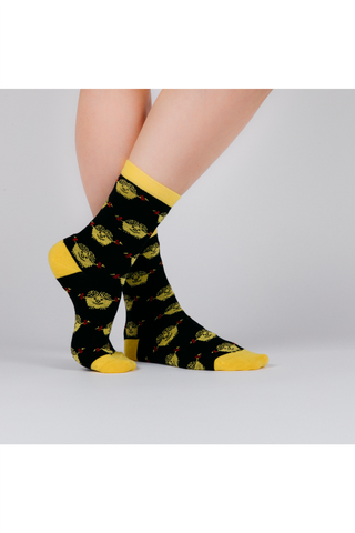 BLACK LITTLE MISS SUNSHINE SOCKS