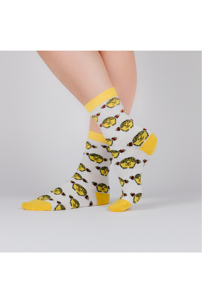 WHITE LITTLE MISS SUNSHINE SOCKS