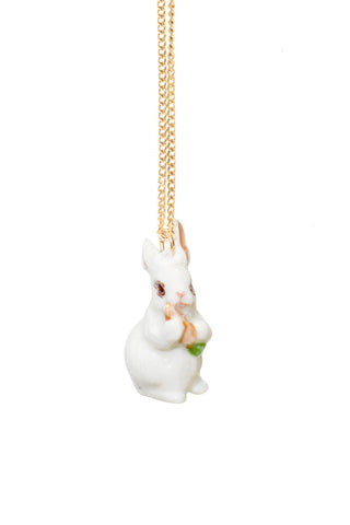 RABBIT WITH CARROT NECKLACE