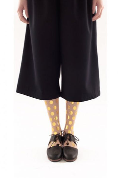GOLD DOT FLOCKED SOCKS