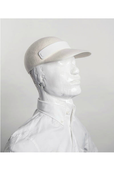 CREAM WOOL CAP WITH CREAM PERSPEX TRIM