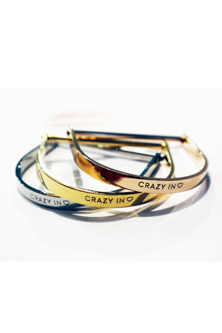 SILVER CRAZY IN LOVE BANGLE