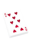 PLAY YOUR CARD RIGHT WHITE BROOCH