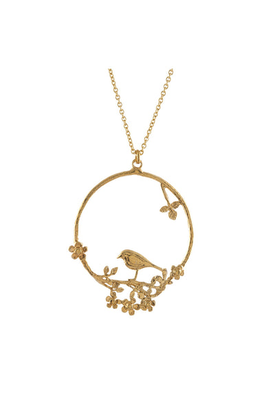 GOLD BIRD LOOP NECKLACE