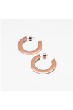 ROSE GOLD SMALL FLAT HOOP EARRINGS
