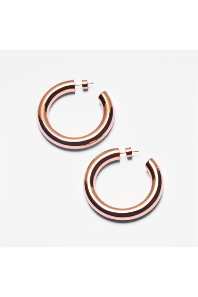 ROSE GOLD CHUNKY HOOPS EARRINGS