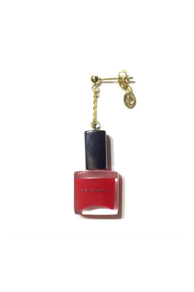 RED NAIL POLISH SINGLE EARRING