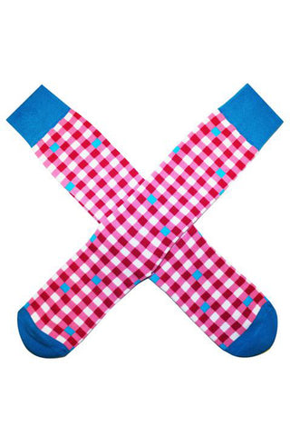 PINK GINGHAM SOCKS