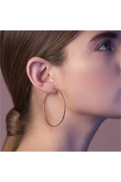 GOLD THIN HOOPS EARRINGS
