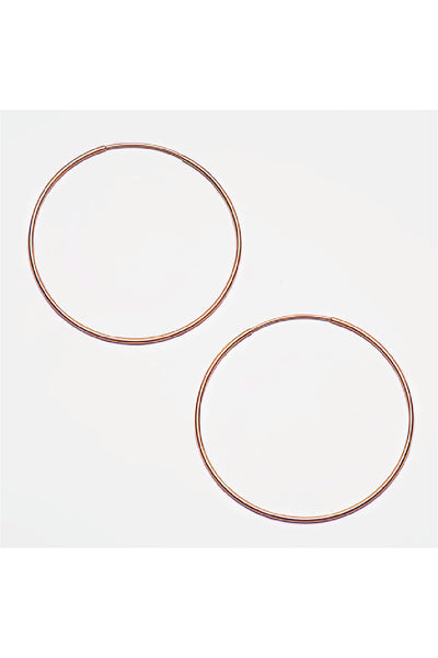ROSE GOLD THIN HOOPS EARRINGS