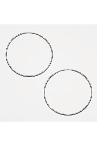 SILVER THIN HOOPS EARRINGS