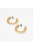 GOLD SMALL FLAT HOOP EARRINGS