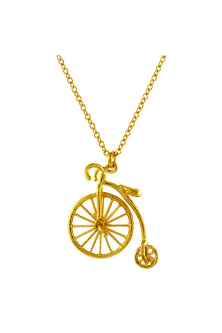 GOLD PENNY FARTHING NECKLACE