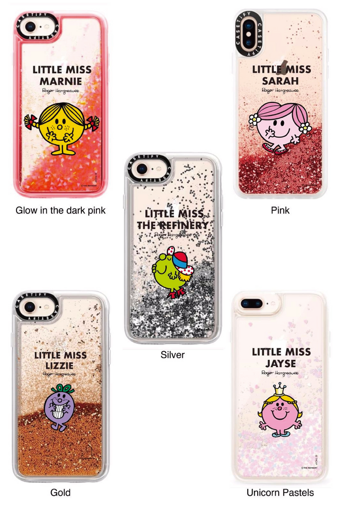 LITTLE MISS CURIOUS PERSONALISED GLITTER PHONE CASE BY CASETIFY