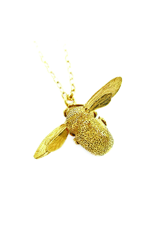 GOLD BUMBLEBEE NECKLACE