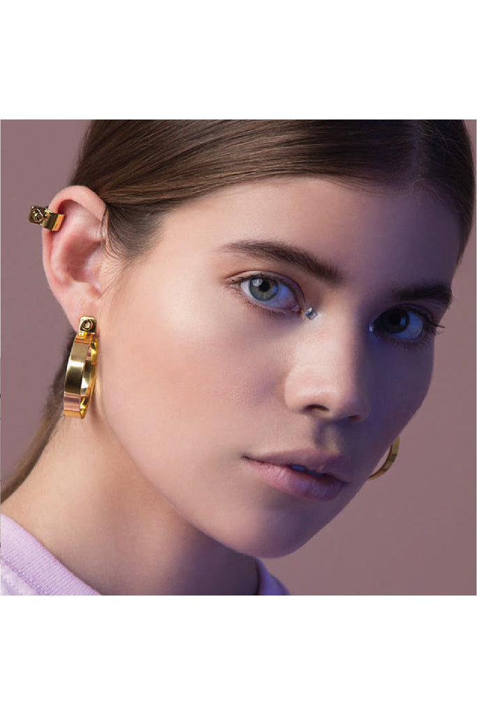 GOLD SCREW EAR CUFF