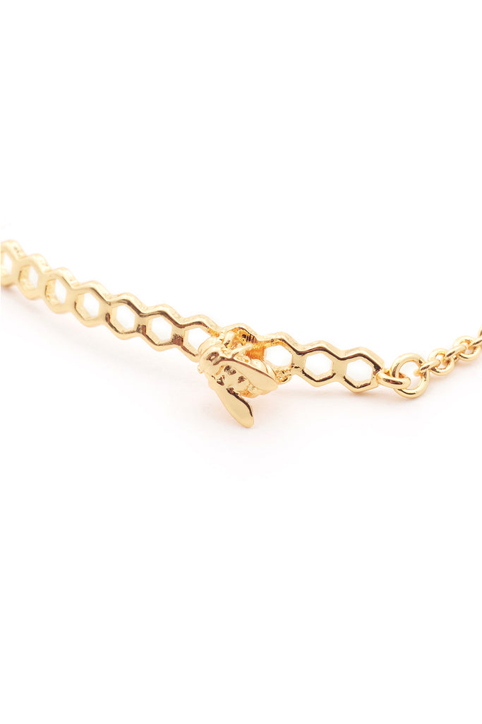 BEE ON HONEYCOMB ID BRACELET