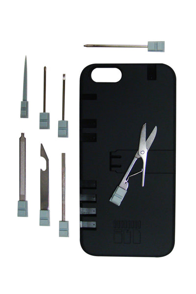 BLACK IPHONE 6/6S CASE WITH SILVER TOOLS