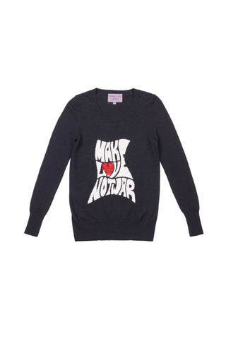 BLACK MAKE LOVE NOT WAR JUMPER